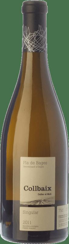 29,95 € Envío gratis | Vino blanco El Molí Collbaix Singular Blanc D.O. Pla de Bages Cataluña España Macabeo, Picapoll Botella 75 cl