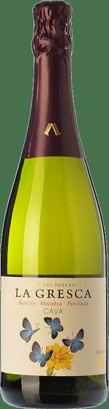 9,95 € 免费送货 | 白起泡酒 El Paseante La Gresca 香槟 D.O. Cava 加泰罗尼亚 西班牙 Macabeo, Xarel·lo, Parellada 瓶子 75 cl | 成千上万的葡萄酒爱好者信赖我们,保证最优惠的价格,免费送货,购买和退货,没有复杂性.