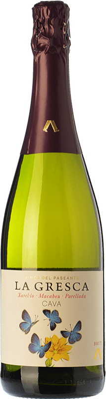7,95 € Free Shipping | White sparkling El Paseante La Gresca Brut D.O. Cava Catalonia Spain Macabeo, Xarel·lo, Parellada Bottle 75 cl