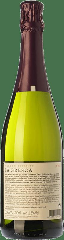 8,95 € Envoi gratuit | Blanc moussant El Paseante La Gresca Brut D.O. Cava Catalogne Espagne Macabeo, Xarel·lo, Parellada Bouteille 75 cl