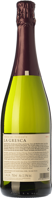 8,95 € 免费送货   白起泡酒 El Paseante La Gresca 香槟 D.O. Cava 加泰罗尼亚 西班牙 Macabeo, Xarel·lo, Parellada 瓶子 75 cl