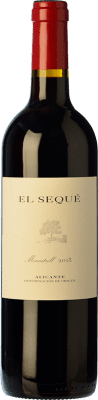 23,95 € Kostenloser Versand | Rotwein El Sequé Crianza D.O. Alicante Valencianische Gemeinschaft Spanien Monastrell Flasche 75 cl