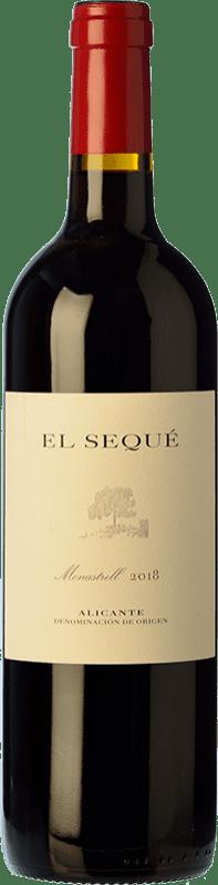 19,95 € Free Shipping | Red wine El Sequé Crianza D.O. Alicante Valencian Community Spain Monastrell Bottle 75 cl
