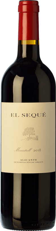 19,95 € Envío gratis   Vino tinto El Sequé Crianza D.O. Alicante Comunidad Valenciana España Monastrell Botella 75 cl