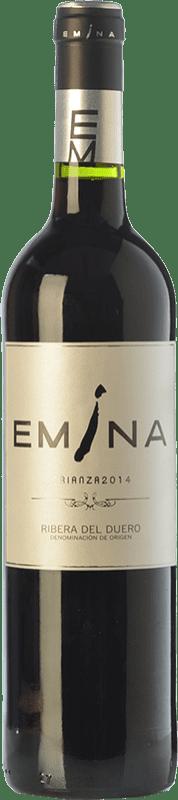 18,95 € Envío gratis | Vino tinto Emina Crianza D.O. Ribera del Duero Castilla y León España Tempranillo Botella 75 cl