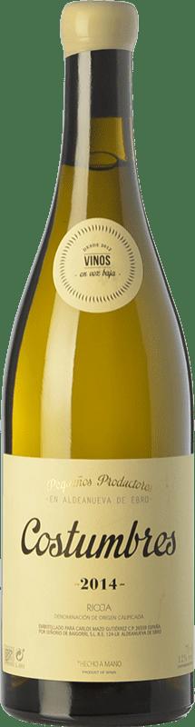 18,95 € Envío gratis | Vino blanco En Voz Baja Costumbres Crianza D.O.Ca. Rioja La Rioja España Viura Botella 75 cl