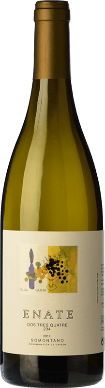 8,95 € Envío gratis | Vino blanco Enate 234 D.O. Somontano Aragón España Chardonnay Botella 75 cl