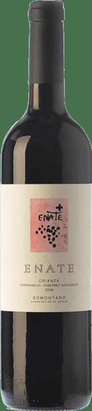 8,95 € Free Shipping | Red wine Enate Crianza D.O. Somontano Aragon Spain Tempranillo, Cabernet Sauvignon Bottle 75 cl
