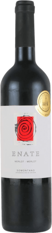 23,95 € Free Shipping | Red wine Enate Crianza D.O. Somontano Aragon Spain Merlot Bottle 75 cl