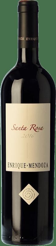 22,95 € Free Shipping | Red wine Enrique Mendoza Santa Rosa Reserva D.O. Alicante Valencian Community Spain Merlot, Syrah, Cabernet Sauvignon Bottle 75 cl
