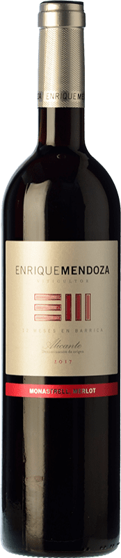 13,95 € Free Shipping | Red wine Enrique Mendoza Merlot-Monastrell Crianza D.O. Alicante Valencian Community Spain Merlot, Monastrell Bottle 75 cl
