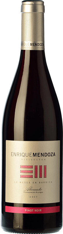 11,95 € Free Shipping | Red wine Enrique Mendoza Crianza D.O. Alicante Valencian Community Spain Pinot Black Bottle 75 cl