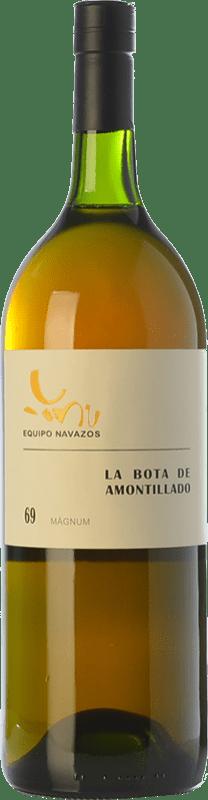 91,95 € Free Shipping | Fortified wine Equipo Navazos La Bota De Amontillado 69 D.O. Manzanilla-Sanlúcar de Barrameda Andalusia Spain Palomino Fino Magnum Bottle 1,5 L