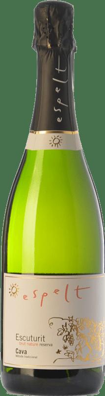 8,95 € Free Shipping | White sparkling Espelt Escuturit Brut Nature Reserva D.O. Cava Catalonia Spain Macabeo, Xarel·lo, Chardonnay Bottle 75 cl