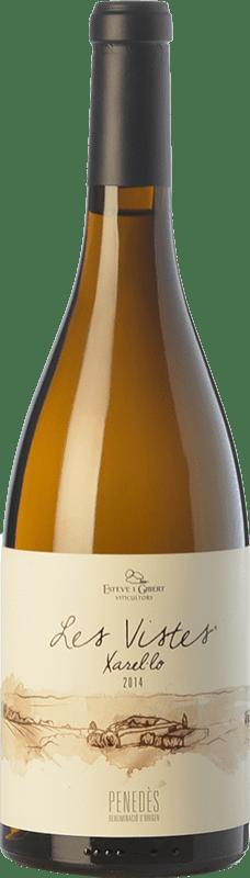 13,95 € Envío gratis | Vino blanco Esteve i Gibert Les Vistes Crianza D.O. Penedès Cataluña España Xarel·lo Botella 75 cl