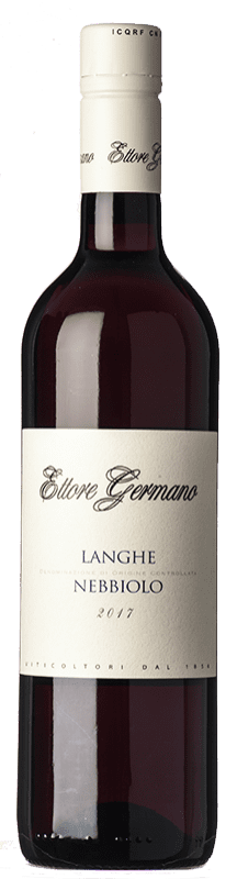 12,95 € Free Shipping | Red wine Ettore Germano D.O.C. Langhe Piemonte Italy Nebbiolo Bottle 75 cl