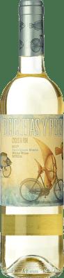 9,95 € Free Shipping | White wine Family Owned Bicicletas y Peces D.O. Rueda Castilla y León Spain Sauvignon White Bottle 75 cl