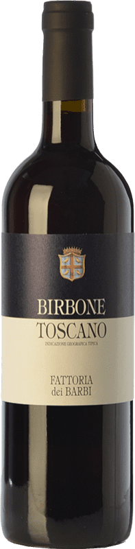 13,95 € Envío gratis | Vino tinto Fattoria dei Barbi Birbone I.G.T. Toscana Toscana Italia Merlot, Sangiovese Botella 75 cl