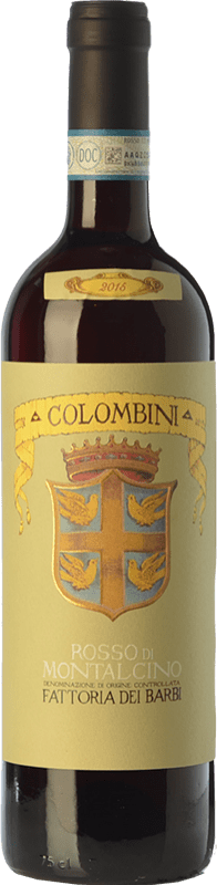 16,95 € Envoi gratuit | Vin rouge Fattoria dei Barbi Colombini D.O.C. Rosso di Montalcino Toscane Italie Sangiovese Bouteille 75 cl