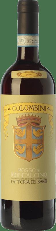 16,95 € Envío gratis | Vino tinto Fattoria dei Barbi Colombini D.O.C. Rosso di Montalcino Toscana Italia Sangiovese Botella 75 cl