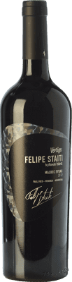 38,95 € Free Shipping | Red wine Felipe Staiti Vertigo Blend Reserva I.G. Valle de Uco Uco Valley Argentina Syrah, Malbec Bottle 75 cl