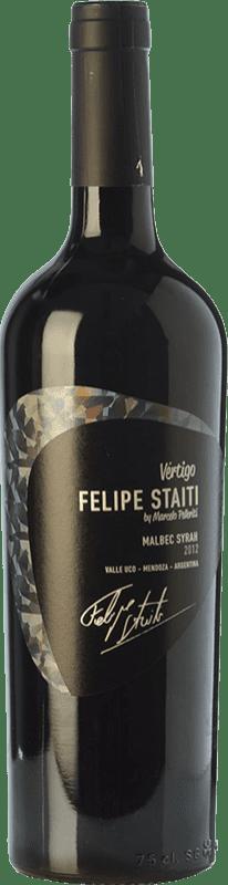 32,95 € Free Shipping | Red wine Felipe Staiti Vertigo Blend Reserva I.G. Valle de Uco Uco Valley Argentina Syrah, Malbec Bottle 75 cl