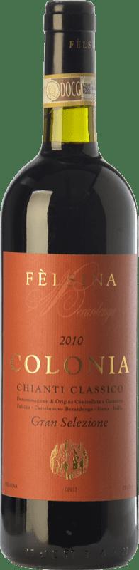 104,95 € Envío gratis | Vino tinto Fèlsina Gran Selezione Colonia D.O.C.G. Chianti Classico Toscana Italia Sangiovese Botella 75 cl