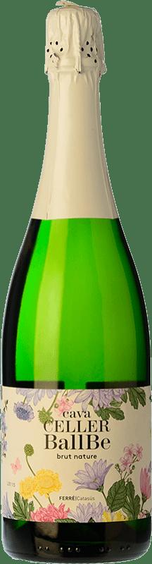 7,95 € Free Shipping | White sparkling Ferré i Catasús Celler Ballbé Brut Nature Joven D.O. Cava Catalonia Spain Macabeo, Xarel·lo, Parellada Bottle 75 cl