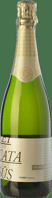 11,95 € Envio grátis | Espumante branco Ferré i Catasús Classic Brut Nature Reserva D.O. Cava Catalunha Espanha Macabeo, Xarel·lo, Parellada Garrafa 75 cl
