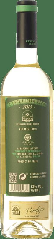 9,95 € Free Shipping | White wine Ferré i Catasús La Caperucita Verde D.O. Rueda Castilla y León Spain Verdejo Bottle 75 cl