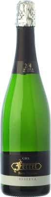 9,95 € Free Shipping | White sparkling Ferret Brut Nature Reserva D.O. Cava Catalonia Spain Macabeo, Xarel·lo, Parellada Bottle 75 cl. | Thousands of wine lovers trust us to get the best price guarantee, free shipping always and hassle-free shopping and returns.