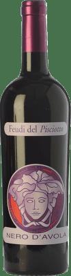 19,95 € Free Shipping | Red wine Feudi del Pisciotto Versace I.G.T. Terre Siciliane Sicily Italy Nero d'Avola Bottle 75 cl
