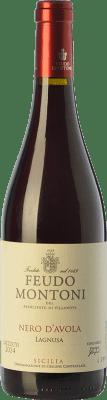 15,95 € Envío gratis | Vino tinto Feudo Montoni Lagnusa I.G.T. Terre Siciliane Sicilia Italia Nero d'Avola Botella 75 cl