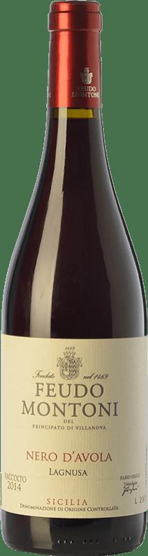 15,95 € Free Shipping | Red wine Feudo Montoni Lagnusa I.G.T. Terre Siciliane Sicily Italy Nero d'Avola Bottle 75 cl