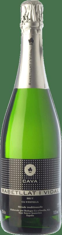 7,95 € Free Shipping | White sparkling Ca N'Estella Rabetllat i Vidal Brut D.O. Cava Catalonia Spain Macabeo, Xarel·lo Bottle 75 cl