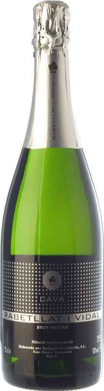 9,95 € Free Shipping | White sparkling Ca N'Estella Rabetllat i Vidal Brut Nature Reserva D.O. Cava Catalonia Spain Macabeo, Xarel·lo, Chardonnay Bottle 75 cl