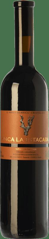 8,95 € Envío gratis | Vino tinto Finca La Estacada 12 Meses Crianza D.O. Uclés Castilla la Mancha España Tempranillo Botella 75 cl