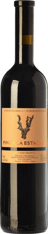4,95 € Free Shipping | Red wine Finca La Estacada 6 Meses Joven D.O. Uclés Castilla la Mancha Spain Tempranillo Bottle 75 cl