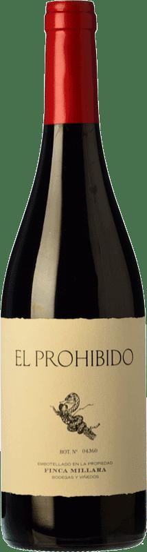 14,95 € Envío gratis | Vino tinto Míllara El Prohibido Joven España Mencía, Sousón Botella 75 cl