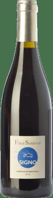 16,95 € Free Shipping | Red wine Finca Sandoval Signo Garnacha Crianza D.O. Manchuela Castilla la Mancha Spain Grenache, Grenache Tintorera Bottle 75 cl