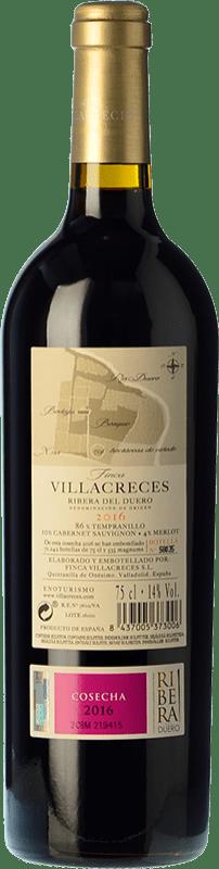 16,95 € Free Shipping | Red wine Finca Villacreces Crianza D.O. Ribera del Duero Castilla y León Spain Tempranillo, Merlot, Cabernet Sauvignon Bottle 75 cl
