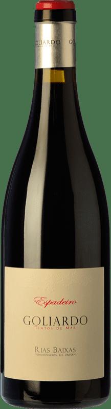28,95 € Free Shipping | Red wine Forjas del Salnés Goliardo Crianza D.O. Rías Baixas Galicia Spain Espadeiro Bottle 75 cl