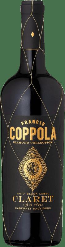 27,95 € Free Shipping | Red wine Francis Ford Coppola Diamond Claret Crianza I.G. California California United States Merlot, Cabernet Sauvignon, Cabernet Franc, Petit Verdot Bottle 75 cl