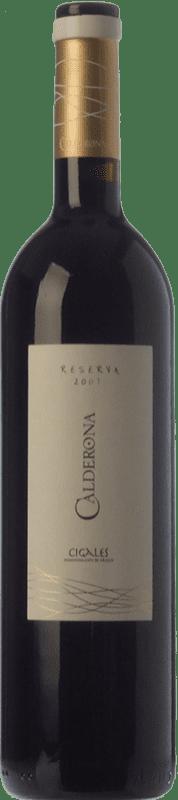 11,95 € Envío gratis | Vino tinto Frutos Villar Calderona Reserva D.O. Cigales Castilla y León España Tempranillo Botella 75 cl
