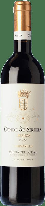 14,95 € Free Shipping | Red wine Frutos Villar Conde Siruela Crianza D.O. Ribera del Duero Castilla y León Spain Tempranillo Bottle 75 cl