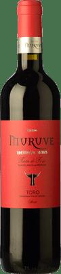 5,95 € Envío gratis | Vino tinto Frutos Villar Muruve Roble D.O. Toro Castilla y León España Tinta de Toro Botella 75 cl
