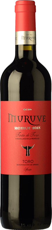 5,95 € Free Shipping | Red wine Frutos Villar Muruve Roble D.O. Toro Castilla y León Spain Tinta de Toro Bottle 75 cl