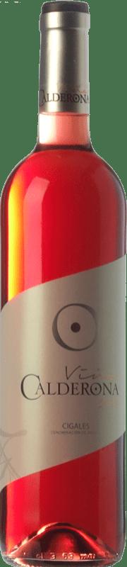 5,95 € Free Shipping | Rosé wine Frutos Villar Viña Calderona Joven D.O. Cigales Castilla y León Spain Tempranillo, Grenache, Albillo, Verdejo Bottle 75 cl