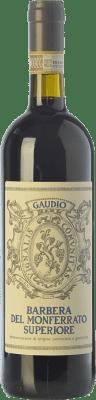 11,95 € Envío gratis | Vino tinto Gaudio Superiore D.O.C. Barbera del Monferrato Piemonte Italia Barbera, Freisa Botella 75 cl