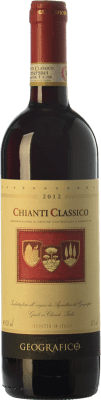 14,95 € Free Shipping | Red wine Geografico D.O.C.G. Chianti Classico Tuscany Italy Sangiovese, Canaiolo Black Bottle 75 cl